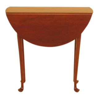 Eldred Wheeler Cherry Queen Anne Drop Leaf Occasional Table For Sale