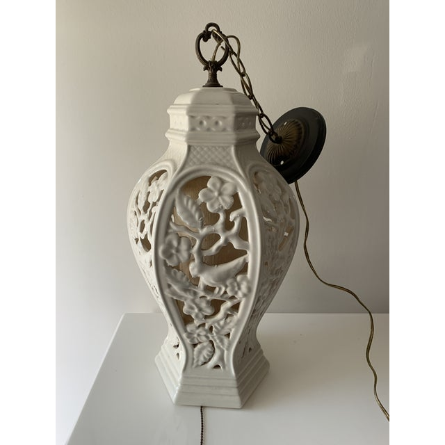 Chinoiserie Porcelain Pendant Light For Sale - Image 12 of 12