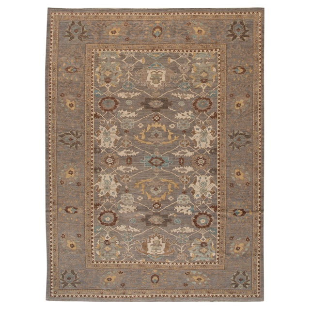 """Wool Sultanabad Rug - 10'10"""" x 14'8"""" - Image 1 of 4"""
