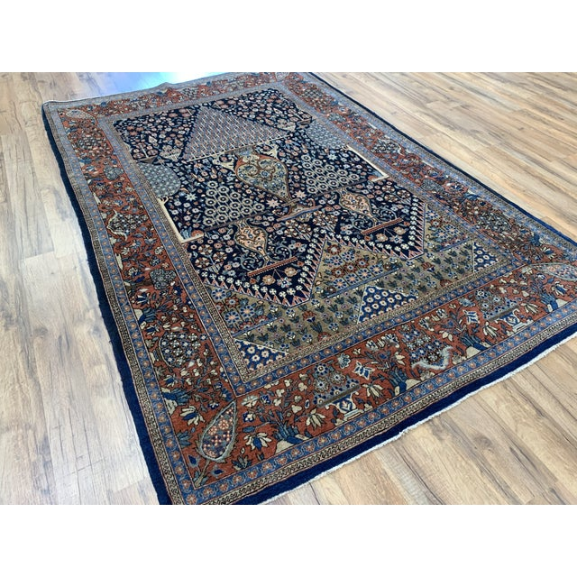 This Persian kashan 4x6'6 is absolutely one of a kind. It is so rich with detail, drawing your eyes to something new every...