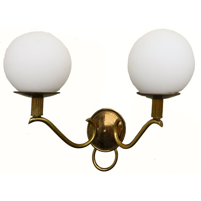 1950s Adnet French Ball Sconces - a Pair - Image 4 of 4