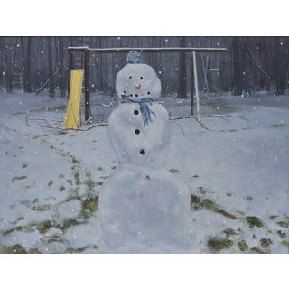 Painting of a Snowman For Sale