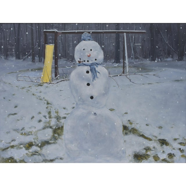 Painting of a Snowman - Image 1 of 7