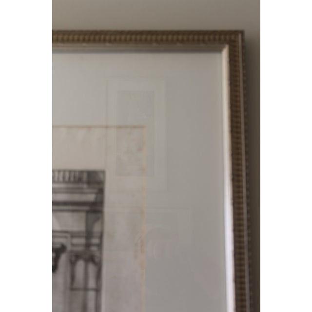 Early 19th Century Early 19th Century Antique Finestra Sopra La Porta Architectual Print For Sale - Image 5 of 10