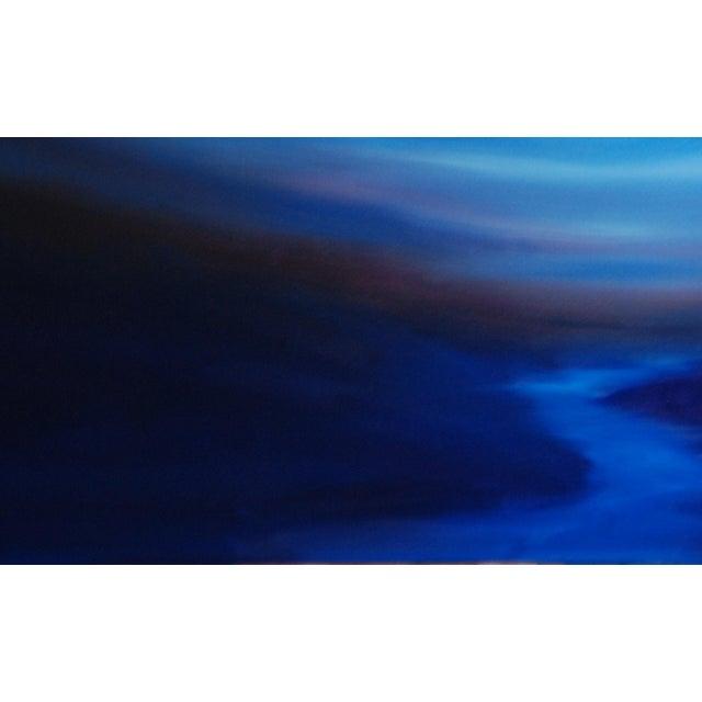 """Gentle Dusk"" Abstract Landscape Original Oil on Canvas - Image 3 of 3"
