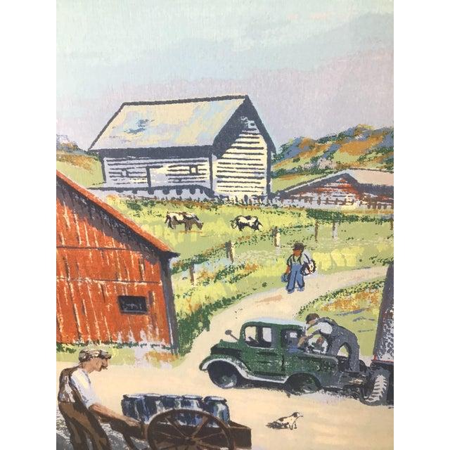 1940s Vintage Harry Shokler Pinkerton's Corner Original Painting For Sale - Image 4 of 8
