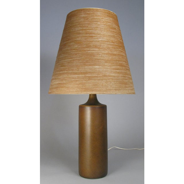 Lotte and Gunnar Bostlund Large 1960's Danish Ceramic Lamp by Bostlund For Sale - Image 4 of 6