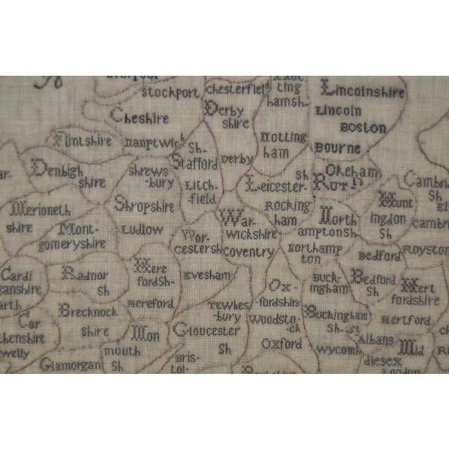 Early 19th Century Map of England and Wales Sampler For Sale In San Francisco - Image 6 of 10