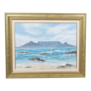 Mountainous Seascape by Petro Vermaak-Lotriet For Sale