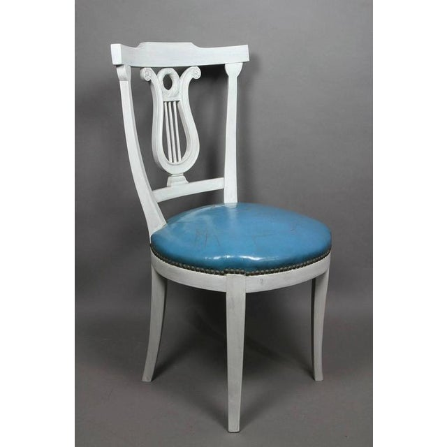 1930s Set of Six Neoclassic Style Painted Dining Chairs For Sale - Image 5 of 5