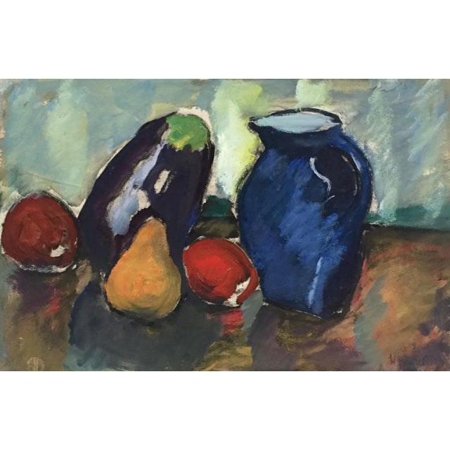 Abstract Harold C. Davies Mid-Century Still Life Painting For Sale - Image 3 of 7