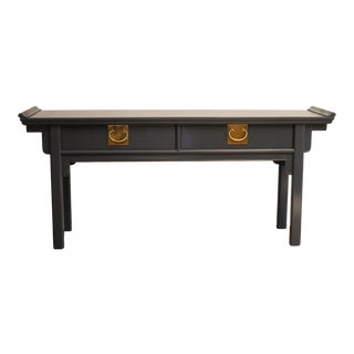 Hague Blue Century Furniture Chin Hua Chinoiserie Pagoda Console Table For Sale