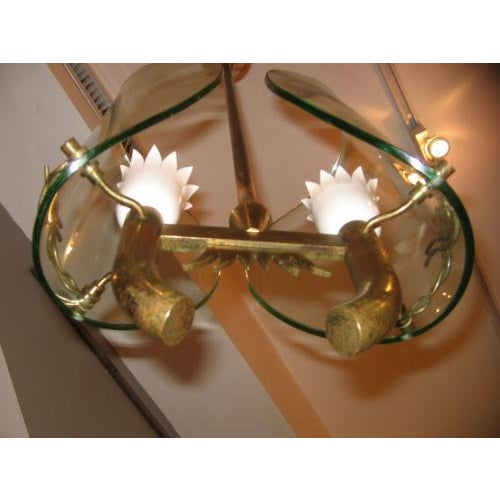 1930s Fontana Arte Two Light Chandelier by P. Chiesa For Sale - Image 5 of 5