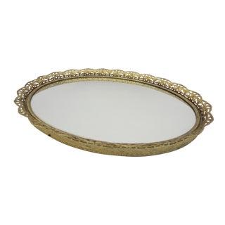 Filigree Mirrored Vanity Tray