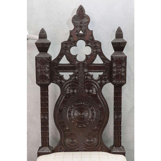 19th Century Turkish Carved Wood Chair - Image 6 of 7