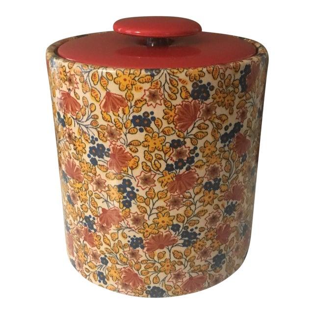 Mid-Century Modern Flowered Ice Bucket For Sale