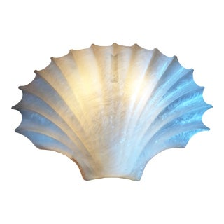 Vintage Acrylic Clam Shell Sconce by Rougier For Sale