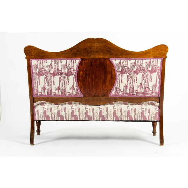 Mid-19th Century Hand Carved Mahogany Victorian Style Settee For Sale - Image 12 of 13