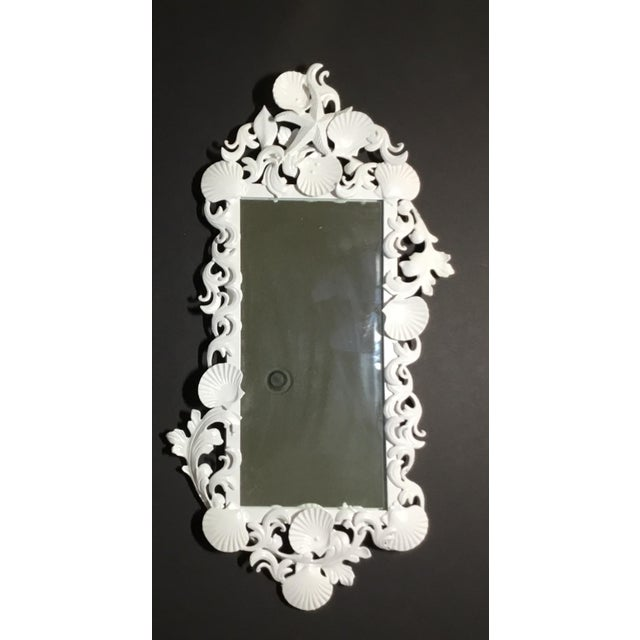 White Sea Shell Mirrors - a Pair For Sale - Image 12 of 13