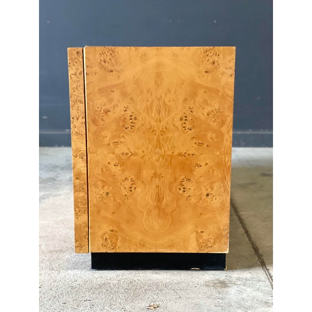 Mid-Century Modern Vintage Milo Baughman Burl Wood Credenza For Sale - Image 3 of 13