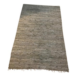 "Matta Ny Dhurrie Recycled Woven Rug - 5'2"" X 8'3"" For Sale"