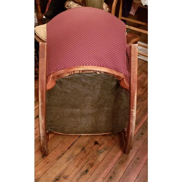 1960s Vintage Sam Moore Upholstered Rocking Chair For Sale - Image 9 of 10