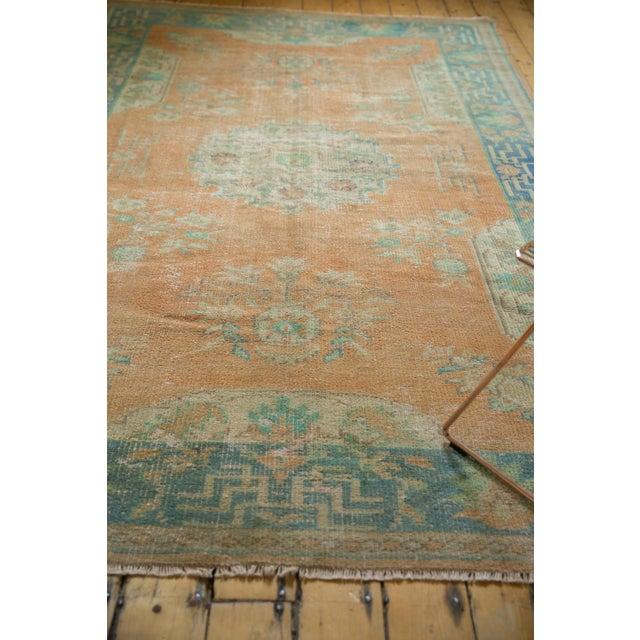"Vintage Distressed Oushak Carpet - 6'2"" X 9'8"" For Sale - Image 11 of 13"