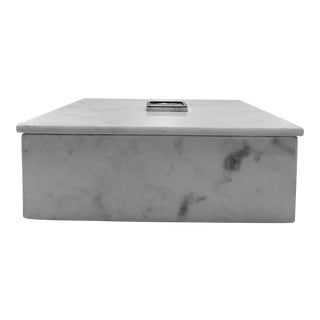 Mid Century Modern Marble Box With Lid For Sale