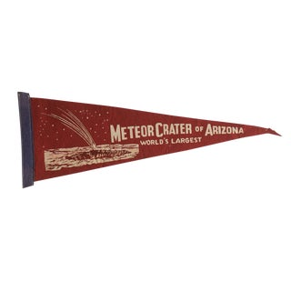 Vintage Meteor Crater of Arizona Felt Flag Pennant