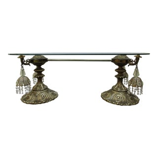 Lighted Chandelier Coffee Table For Sale