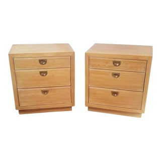 1970s Campaign Romweber Nightstands - a Pair For Sale