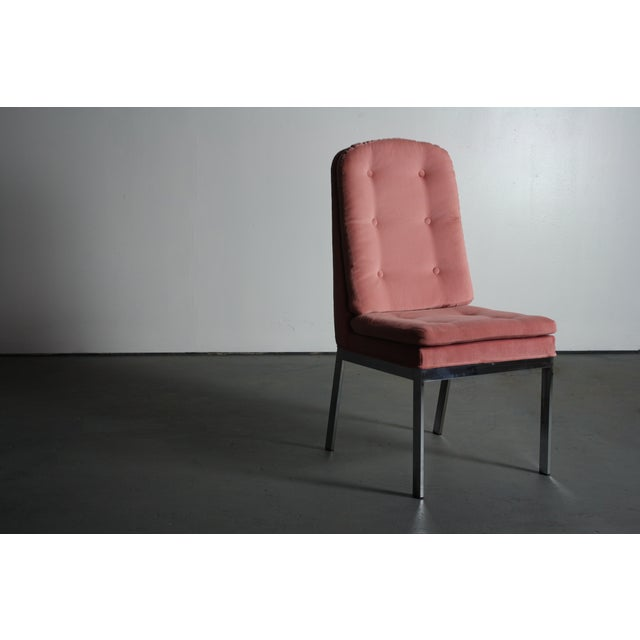 Milo Baughman for DIA Blush Dining Chairs - S/6 For Sale - Image 11 of 12
