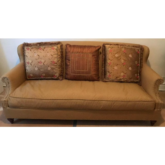 Miraculous Domain Victorian Style Sofa With Pillows Chairish Caraccident5 Cool Chair Designs And Ideas Caraccident5Info