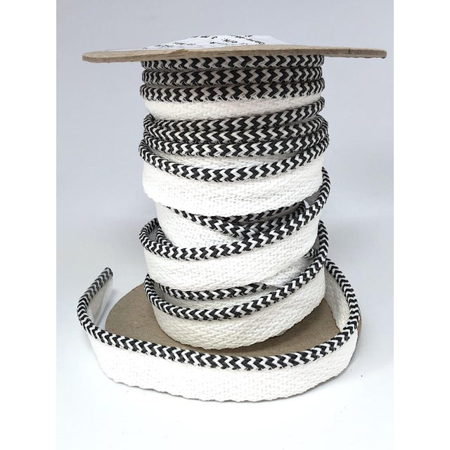 """Textile Braided 1/8"""" Indoor-Outdoor Charcoal/White Cord For Sale - Image 7 of 7"""