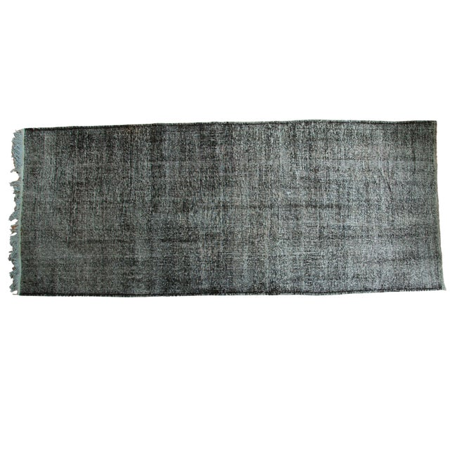 "Vintage Overdyed Gallery Rug Runner - 4'11""x11'10"" - Image 1 of 9"