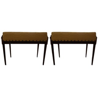 Italian Gio Ponti Inspired Mid-Century Benches - A Pair For Sale