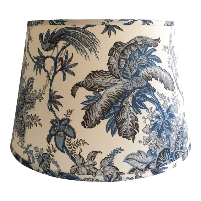 Designer Blue Tropical Toile Lamp Shade - Image 1 of 8