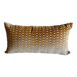 Modern Cut Velvet Lumbar Pillow