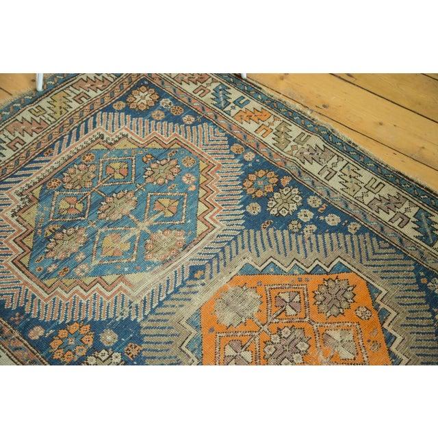 """Antique Caucasian Square Rug - 3'6"""" x 4'4"""" - Image 3 of 10"""