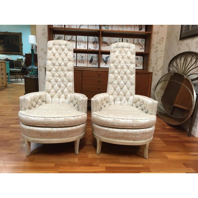 1960s Adrian Pearsall High Back Mid-Century Chairs - A Pair For Sale - Image 5 of 5