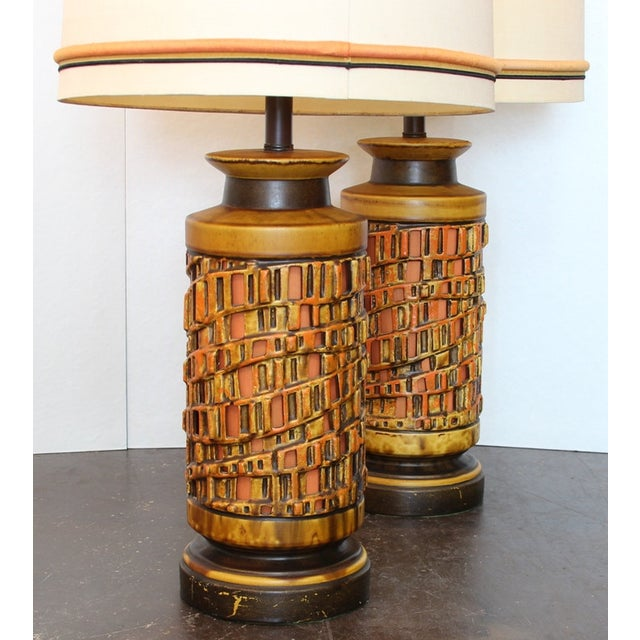 Vintage 1960s Ceramic Table Lamp - A Pair - Image 3 of 6