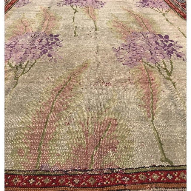 Beige Vintage Design Decorative Turkish Rug- 7′2″ × 10′ For Sale - Image 8 of 13
