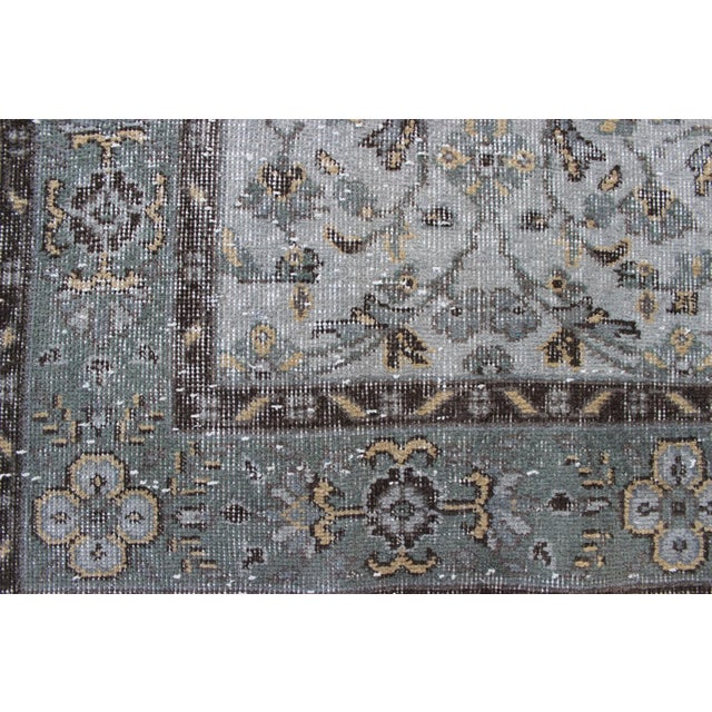 "Vintage Gray Turkish Over-Dyed Rug - 6' x 9'3"" - Image 5 of 10"