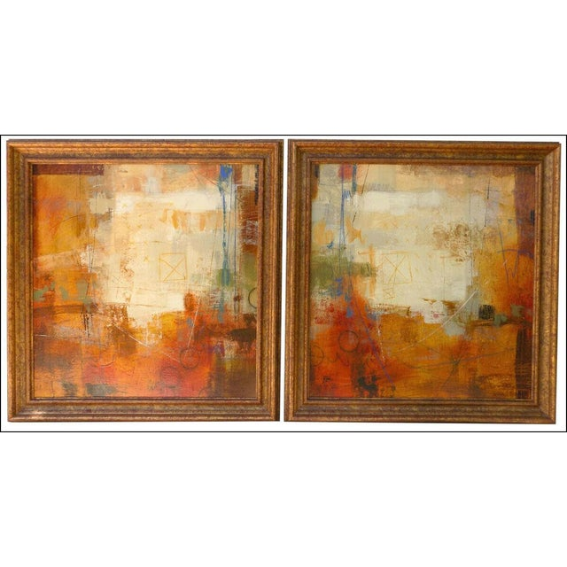 2000 - 2009 Ursula J Brenner Paintings Original Abstracts on Canvas - a Pair For Sale - Image 5 of 5