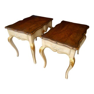 Baker Furniture French Regency Collector Series Lamp / Side Tables- a Pair
