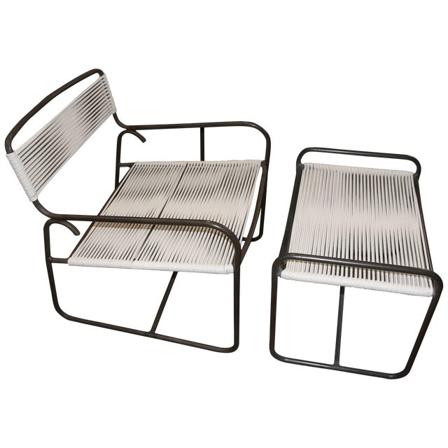 Large Lounge Chair and Ottoman by Walter Lamb for Brown Jordan For Sale