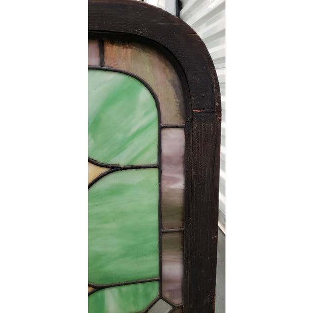Arts & Crafts 19th Century Stained Glass Victorian House Number Window Panel C.1880 For Sale - Image 3 of 12