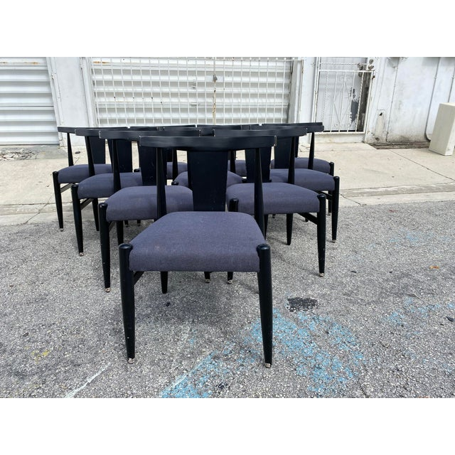 Midcentury Modern Style Klismos Chairs Set of Ten . For Sale - Image 10 of 13