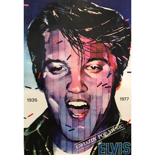 Original 1983 Polish Music Poster, Elvis For Sale