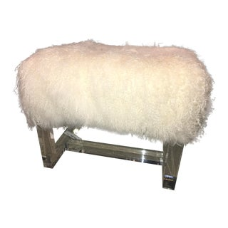 Avalon Stool Ivory Sheepskin For Sale